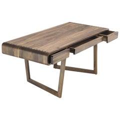 Stylish Office Desk in Solid Walnut Wood