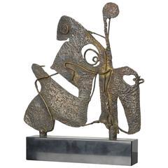Abstract Bull Sculpture