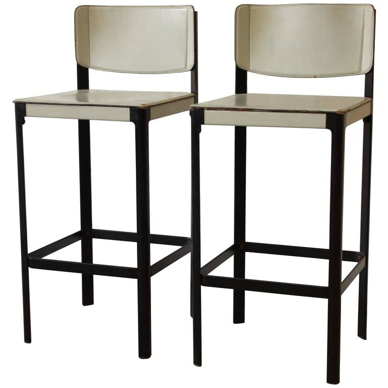 Pair of Mateo Grassi Sistina Italian Leather Bar Stools  : 7443943l from www.1stdibs.com size 768 x 768 jpeg 35kB