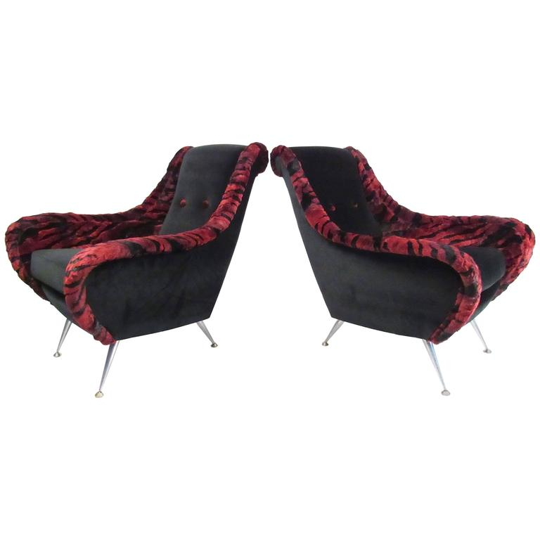 Gio Ponti Style Lounge Chairs For Sale