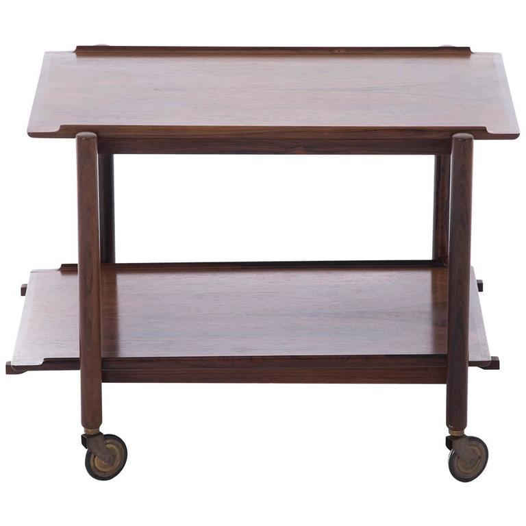 Danish Modern Rosewood Bar Cart