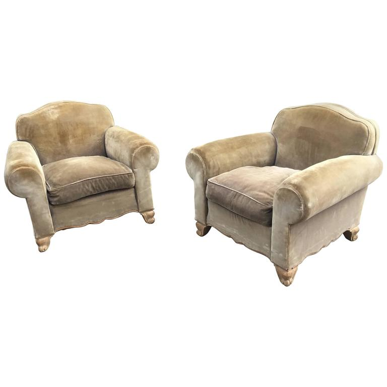 maison gouff paris pair of art deco armchairs circa 1940 signed at 1stdibs. Black Bedroom Furniture Sets. Home Design Ideas