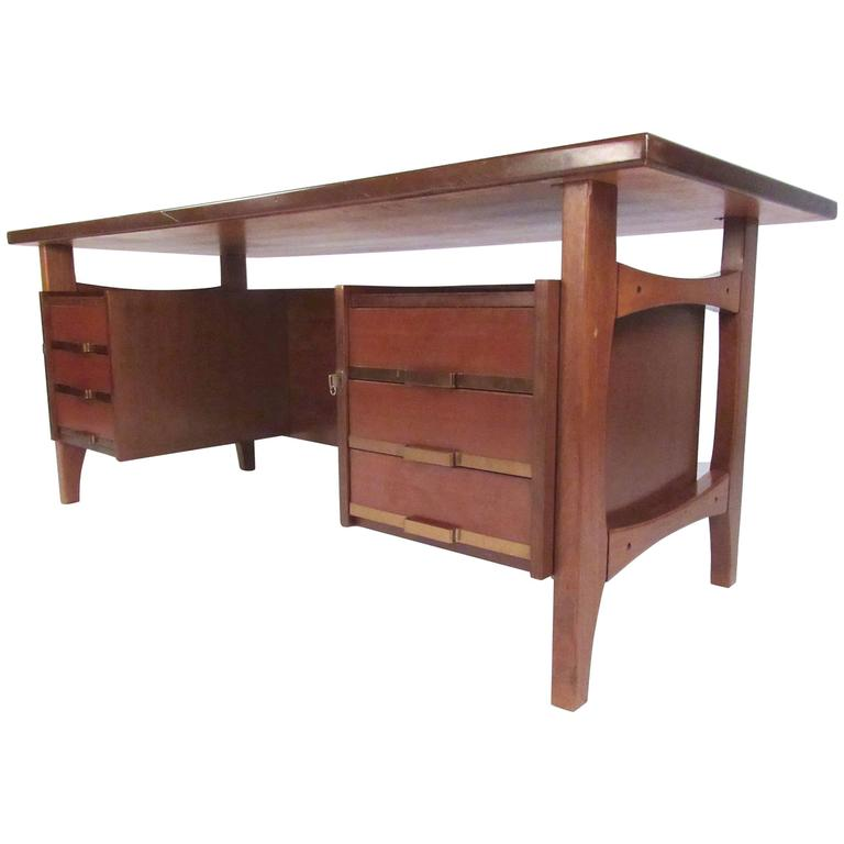 Ico Parisi Style Executive Desk by Schirolli, circa 1960