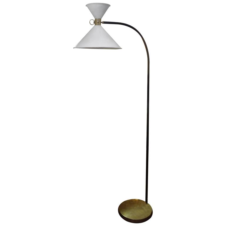 French Maison Lunel Floor Lamp with Articulating Shades