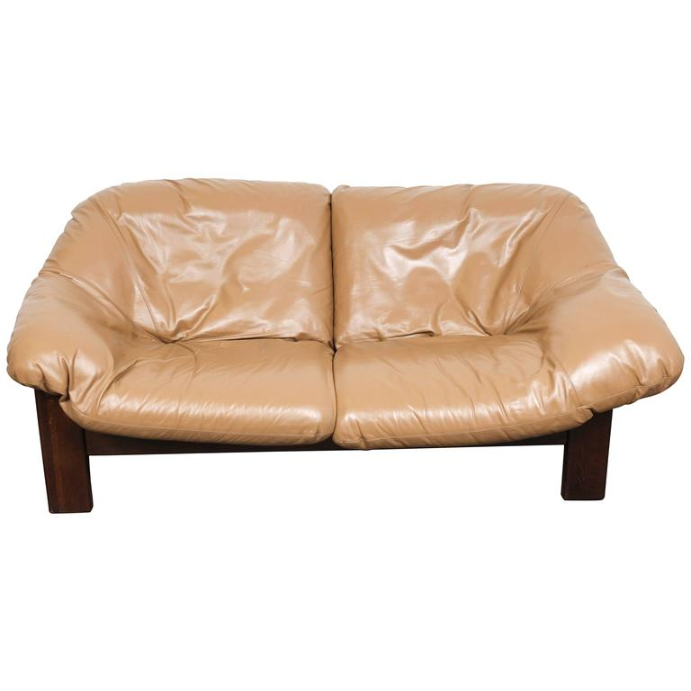 Mid-Century Dutch Cognac Leather Sofa by Gerard Van Den Berg For Sale