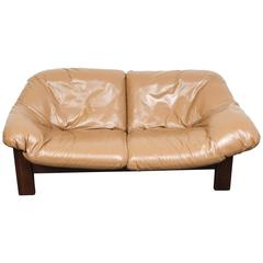 Mid-Century Dutch Cognac Leather Sofa by Gerard Van Den Berg