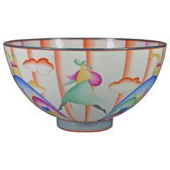 Gio Ponti Art Deco Porcelain Bowl Il Pellegrino di Montesanto, 1925