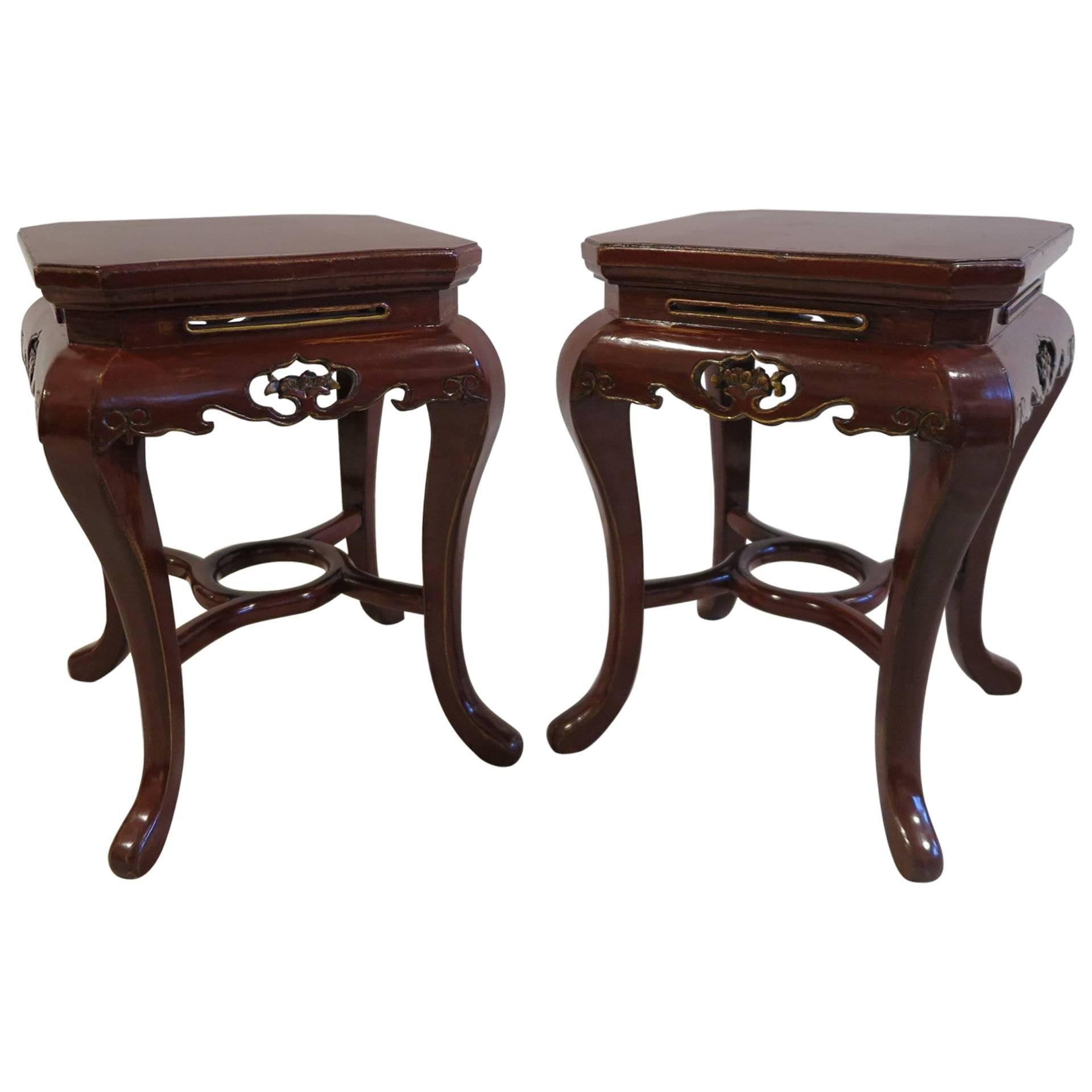 Art Deco Side Tables Stools