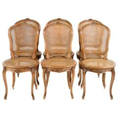 Set of Six French, Early-20th Century Chairs