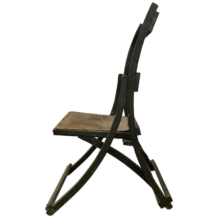 Early Sucsessionist Jugendstil Folding Chair in Richard Riemerschmid Manner