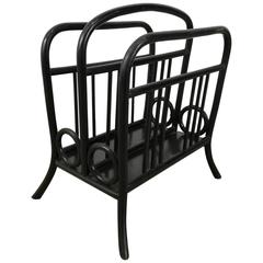 Early Bentwood Magazine Rack Made by Thonet, Manner of Josef Hoffman