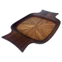 Rare Large Dansk Tray Designed by Quistgaard, Teak and Bamboo