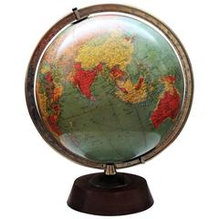 Replogle 12 Inch Library Blown Glass Illuminated Globe