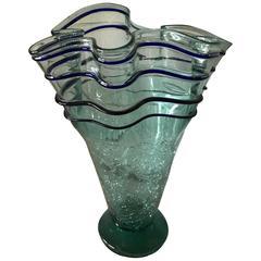Stunning Sea Green Glass Vase