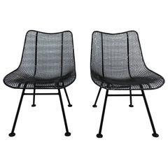 Pair of Russell Woodard Slipper Chairs, 1960
