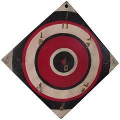 Graphic Bulls Eye Target Ring Toss Game Board
