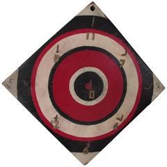 Graphic Bulls Eye Target Ring Toss Game Board