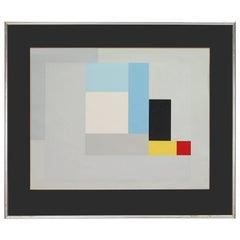 """Modernist Lithograph of Ben Nicholson's """"June 1937"""""""