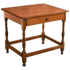 Antique Occasional Table, Victorian Oak, circa 1850