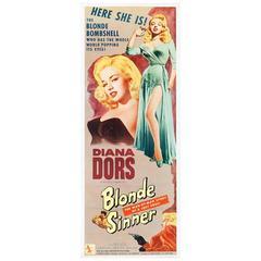"""Blonde Sinner"" Film Poster, 1956"