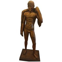 "Romeo Gregori ""Nuotatore"" 1938 Gilt Plaster Sculpture"