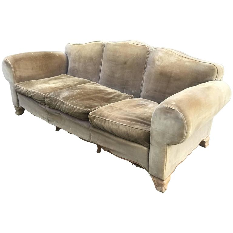 maison gouff paris art deco sofa circa 1940 at 1stdibs. Black Bedroom Furniture Sets. Home Design Ideas