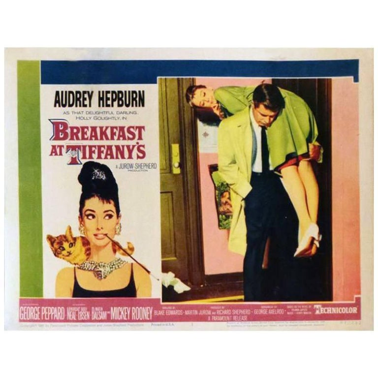 """Breakfast at Tiffany's"", Poster, 1961 For Sale"