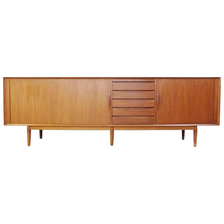 1960s Teak Sideboard Designed by Arne Vodder for Sibast Møbler, Denmark 1