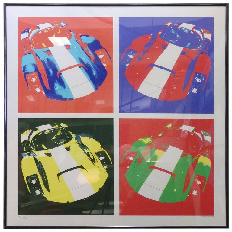 Limited Edition Giclee Print Porsche 906 by Billy Couch