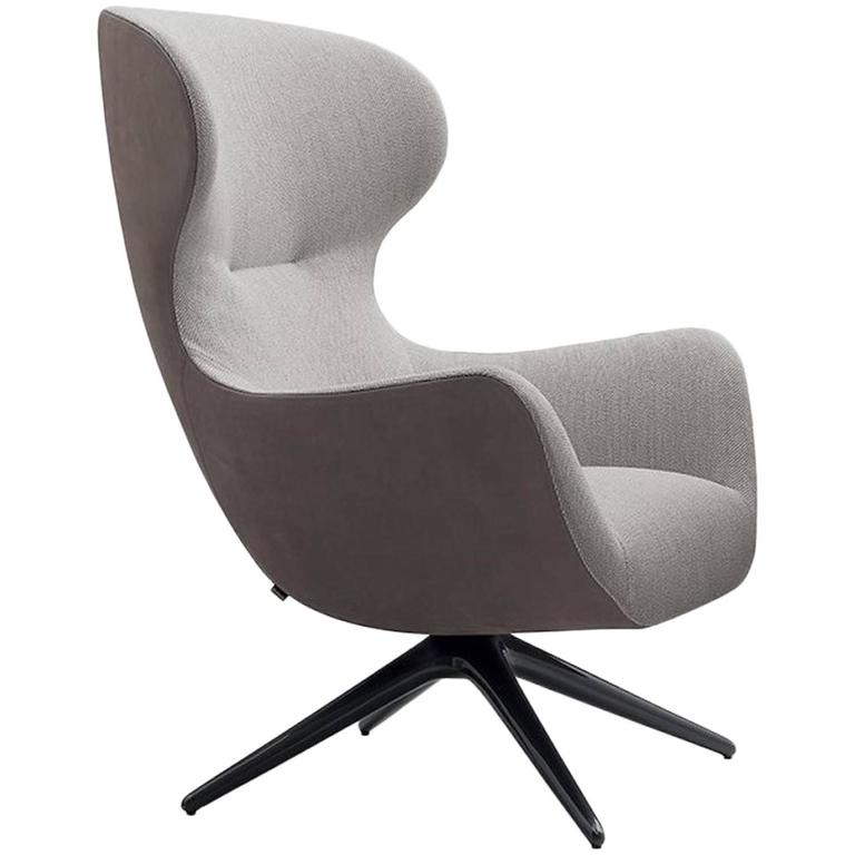 Poliform Mad Joker Revolving Or Four Leg Armchair By