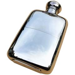 Solid Silver Hall Marked Hip Flask and Cup by Mappin & Webb, 1929