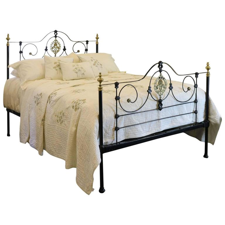cast iron bed in black mk105 at 1stdibs