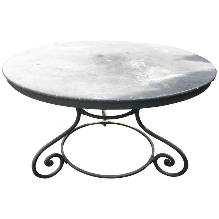 Charming Round French Iron Dining Table At 1stdibs