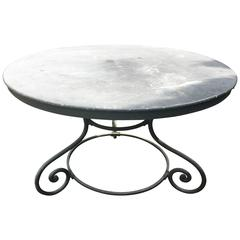 Charming Round French Iron Dining Table
