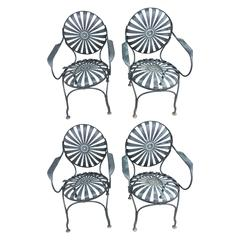 Set of Four French Patio/Garden Jarre Chairs
