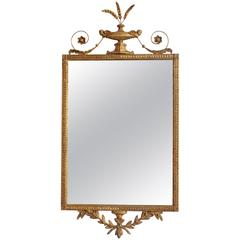 George III Adams Style Gilt Mirror