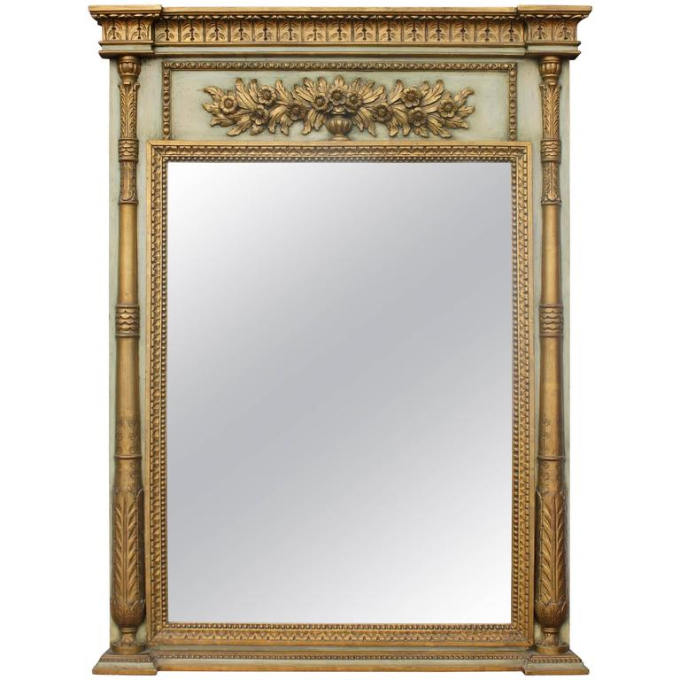 Neoclassical Style Trumeau Mirror