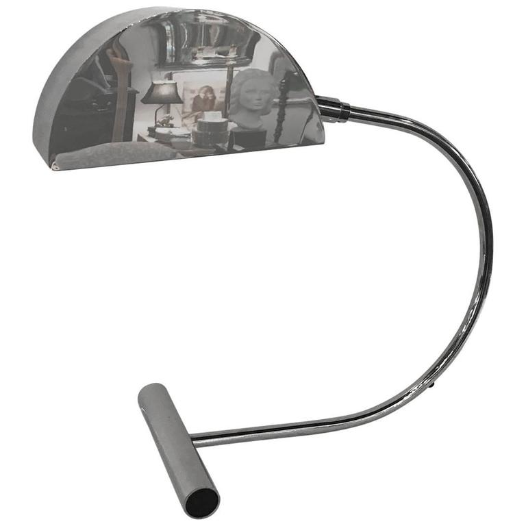 Koch and Lowy Chrome Cantilevered Desk Lamp