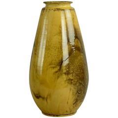 Earthenware Vase with Yellow Glaze by Svend Hammershøi for Herman Kahler