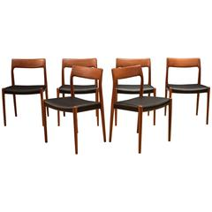 Set of Six Danish Niels Moller 77 Dining Chairs
