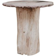 19th Century Stonetopped Treetrunk Table