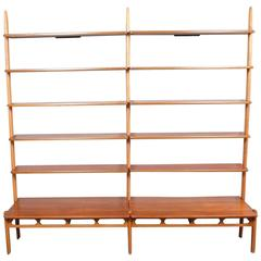 1960's William Watting for Mikael Laursen Floating Shelves Wall Unit Bookcase