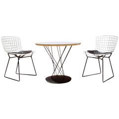 Knoll Noguchi Cyclone Table and Matching Bertoia Chairs for Children Set