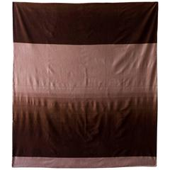 Cashmere Wool Hand embroidered Sky Throw 2 - Brown & Taupe