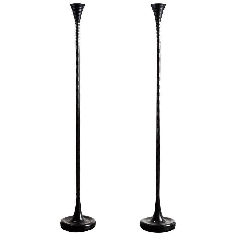 Pair of Rare Model D901 Italian Floor Lamp by Eleonore Peruzzi Riva for Candle