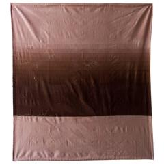 Cashmere Wool Hand embroidered Sky Throw 1 - Brown & Taupe