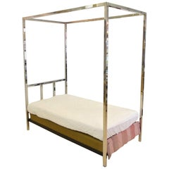 Pace Collection Chrome Four Poster Canopy Day Bed