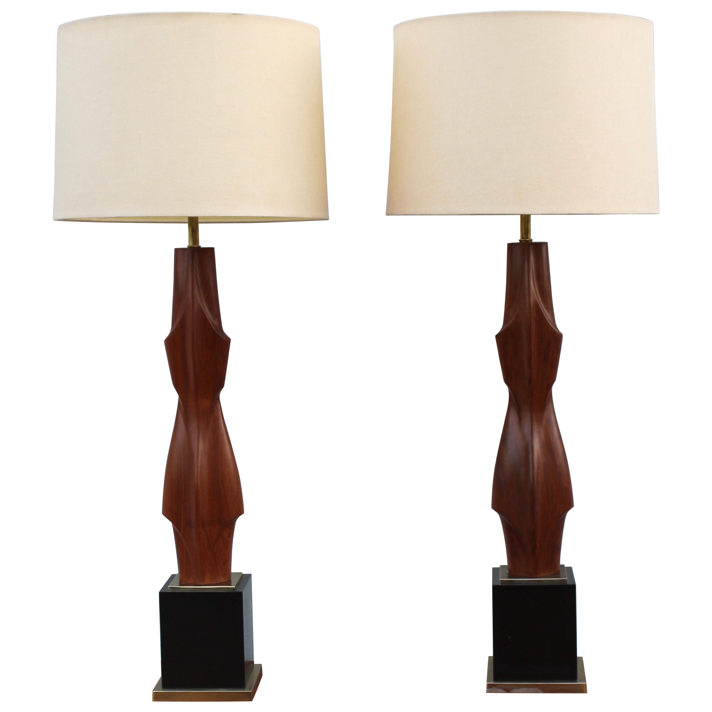 Monumental Sculptural Table Lamps by Laurel