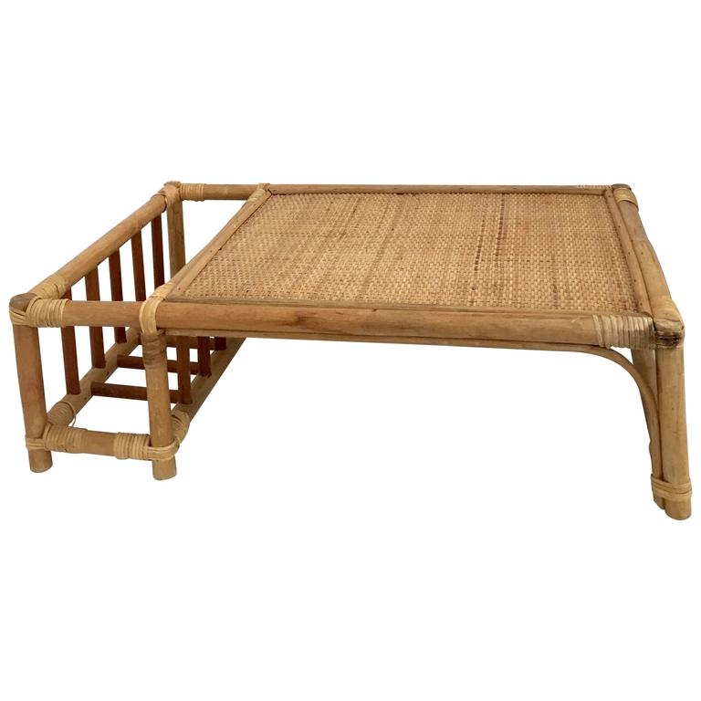 Vintage White Wood Lap Bed Tray