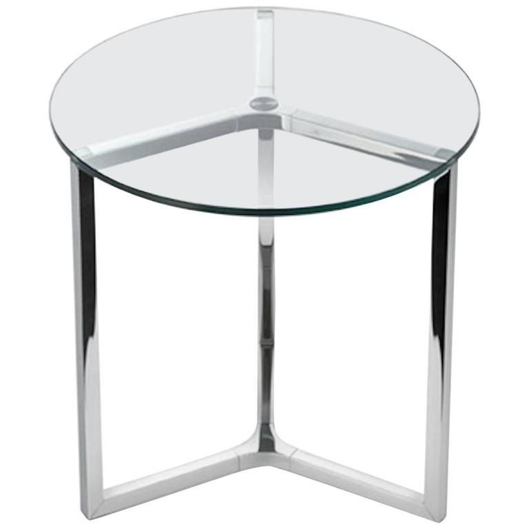 Raj 2 Coffee or Side Table in Glass and Polished Chrome by Gallotti & Radice